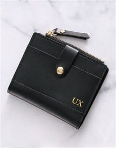 gifts: Personalised Black Short Purse!