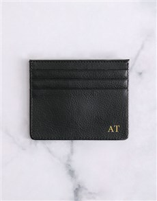 gifts: Personalised Black Card Holder !