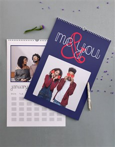 gifts: Personalised Us Wall Calendar!