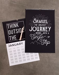 gifts: Personalised Inspirational Wall Calendar!