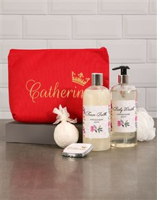 gifts: Personalised Regal Red Cosmetic Bag!
