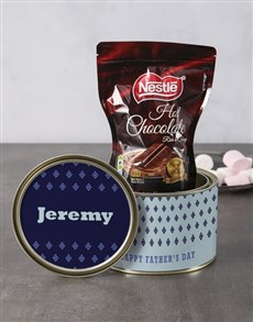 gifts: Personalised Father's Day Hot Choc Tin!