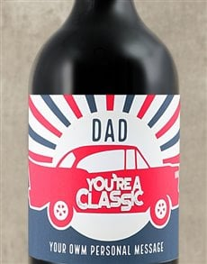gifts: Personalised Dad Classic Wine!