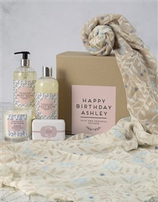 gifts: Personalised Birthday Wishes Scarf Hamper!