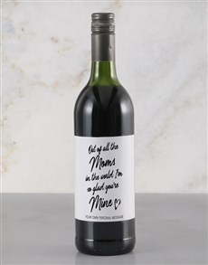 gifts: Personalised Of All The Moms Red Wine!