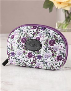 gifts: Personalised Purple Paradise Cosmetic Bag!