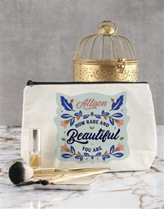 gifts: Personalised Rare Find Cosmetic Bag!