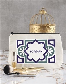 gifts: Personalised Tile Pattern Cosmetic Bag!