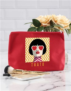 gifts: Personalised Portrait Cosmetic Bag!