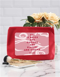 gifts: Personalised She Is Cosmetic Bag!