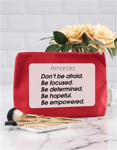 gifts: Personalised Empowered Cosmetic Bag!
