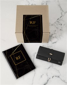 gifts: Personalised Black Purse And Notebook!