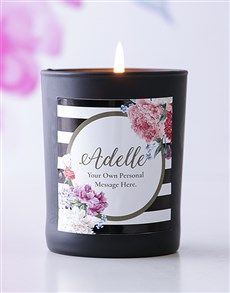 gifts: Personalised Black Name and Message Candle!
