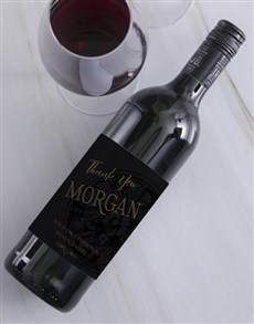gifts: Personalised Vintage Thank You Wine!