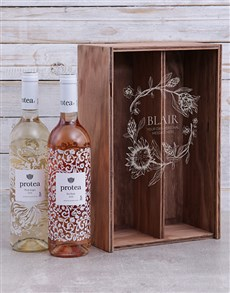 gifts: Personalised Protea Duo Crate!