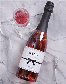 gifts: Personalised Ribbon Wine!