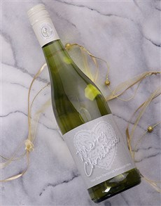 gifts: Personalised Christmas Heart Wine!