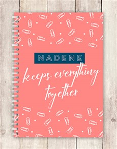 gifts: Personalised Everything Together Notebook!