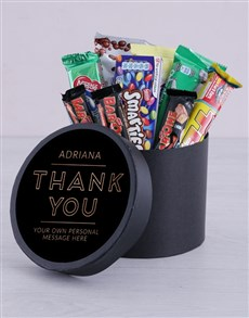 gifts: Personalised Thank You Hat Box!