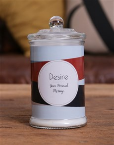 gifts: Personalised Striped Candle Jar!