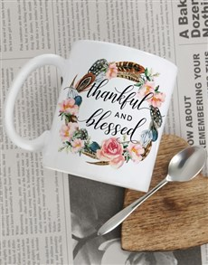gifts: Personalised Thankful and Blessed Mug!