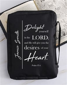 gifts: Personalised Delight Yourself Bible Case!
