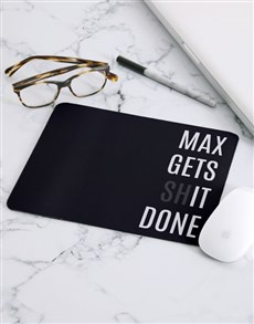 gifts: Personalised Gets It Done Mouse Pad!