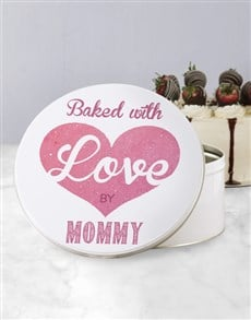 gifts: Personalised Baked With Love Cookie Tin!