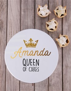 gifts: Personalised Queen of Cakes Cookie Tin!
