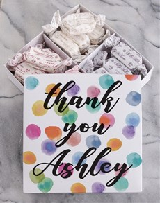 gifts: Personalised Thank You Sally Williams Nougat Box!