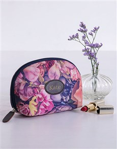gifts: Personalised Watercolour Floral Cosmetic Bag!
