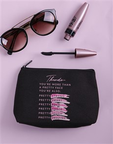 gifts: Personalised Pretty Face Cosmetic Bag!