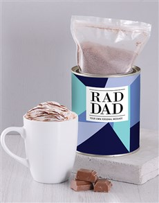 gifts: Personalised Rad Dad Hot Chocolate Tin!
