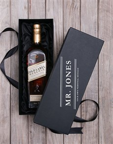 gifts: Personalised Johnnie Walker Whisky Box!