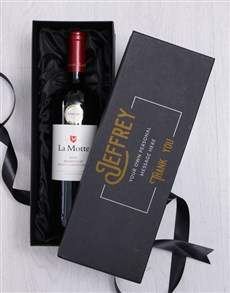 gifts: Personalised Red Wine Giftbox!