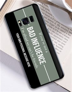 gifts: Personalised Bad Influence Samsung Cover!