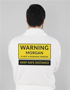 gifts: Personalised Warning Gown!