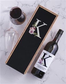 gifts: Roses Personalised Wine and Crate!