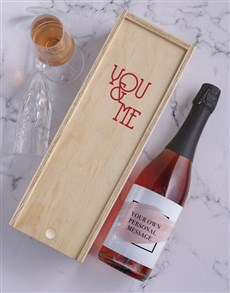 gifts: Blush Personalised Wine and Crate!