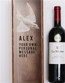 gifts: Personalised Swallow Printed Wine Crate!
