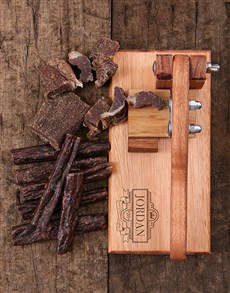 gifts: Personalised Scroll Biltong Cutter!