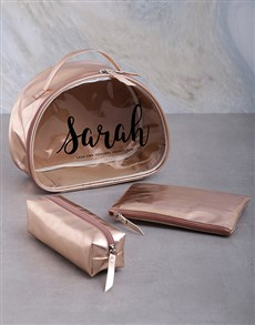 gifts: Personalised Glitter Name 3 Piece Vanity Set!
