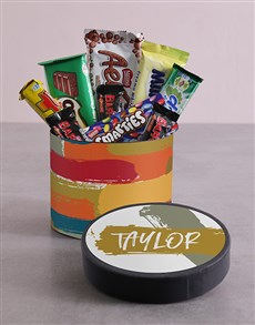 gifts: Personalised Modern Hat Box with Treats!