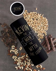 gifts: Personalised Legend Biltong and Nut Tube!