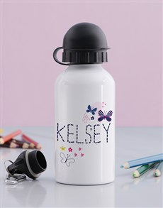 gifts: Personalised Butterfly Girls Bottle!