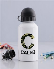 gifts: Personalised Camo Boys Bottle!