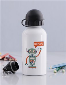 gifts: Personalised Robot Boys Bottle!