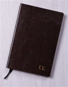 gifts: Personalised Initials Gilded Notebook!