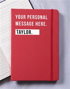 gifts: Personalised Just For You A5 Notebook!