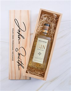 gifts: Personalised Inverroche Gin Printed Crate!